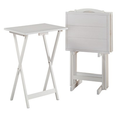 Graham Tray Tables White - Powell Company