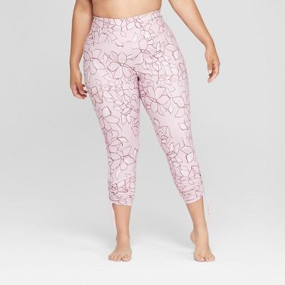 e5441a2c3c736 Women's Plus Size Printed Comfort 7/8 High-Waisted Leggings With Adjustable  Length - JoyLab™ : Target