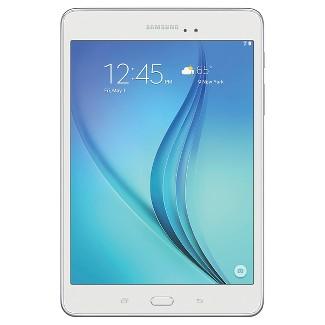 """Samsung Galaxy Tab A 8"""" Tablet Wi-Fi, White - 16GB"""