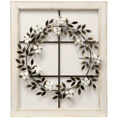 26.18  Floral Wreath Wood Framed Wall Art - StyleCraft