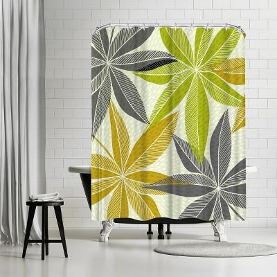 "Americanflat Modern Hawaiian by Modern Tropical 71"" x 74"" Shower Curtain"