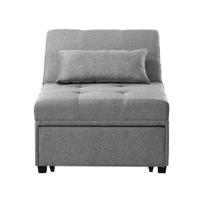 Twin Wales Convertible Sofa Bed Gray - Powell Company