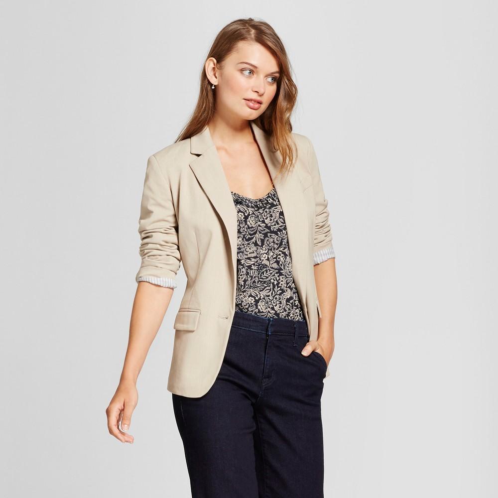 Women's Bi-Stretch Twill Blazer - A New Day Khaki (Green) 18