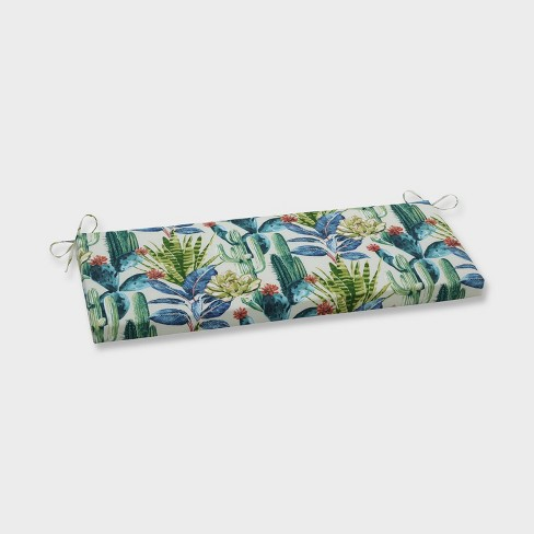 Hatteras Garden Outdoor Bench Cushion Black - Pillow Perfect - image 1 of 1
