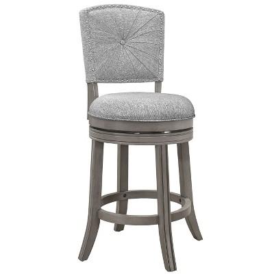 Santa Clara II Swivel Counter Height Barstool Gray - Hillsdale Furniture