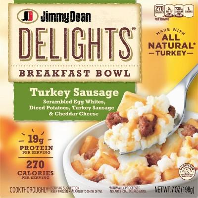 Jimmy Dean Delights Frozen Turkey Sausage Breakfast Bowl - 7oz
