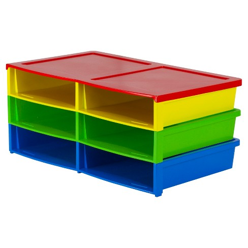 Storex® Quick Stack Organizer 6 Compartments - Multicolor - image 1 of 2