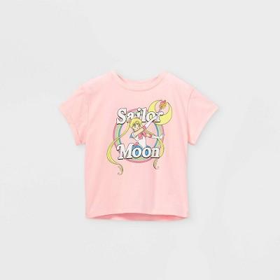 Girls' Sailor Moon Short Sleeve T-Shirt - Pink