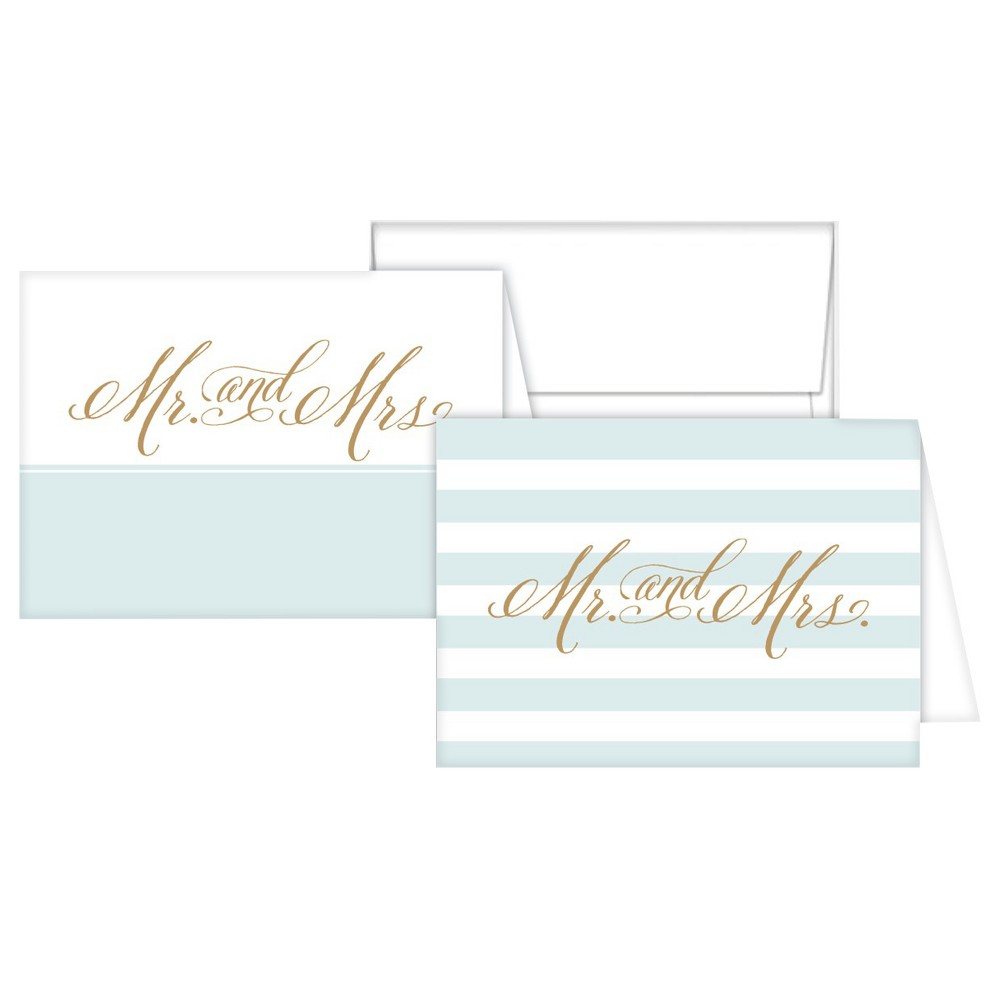 Stationery Notes - Mr. and Mrs. Tiffany, Light Blue
