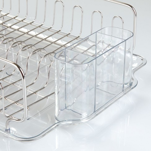faaa943cacc9 InterDesign Forma Lupe Stainless Steel Dish Drainer Large Clear : Target