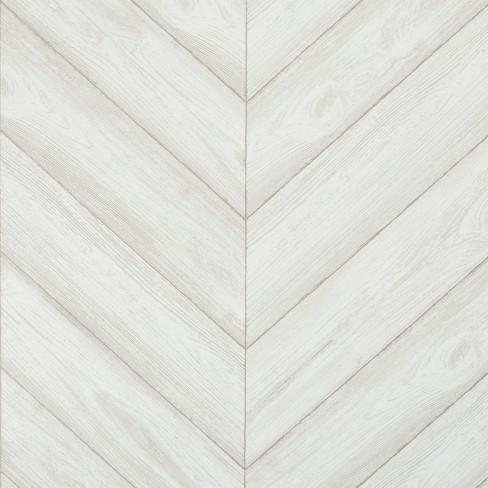 Peel Stick Wallpaper Textured Herringbone Gray