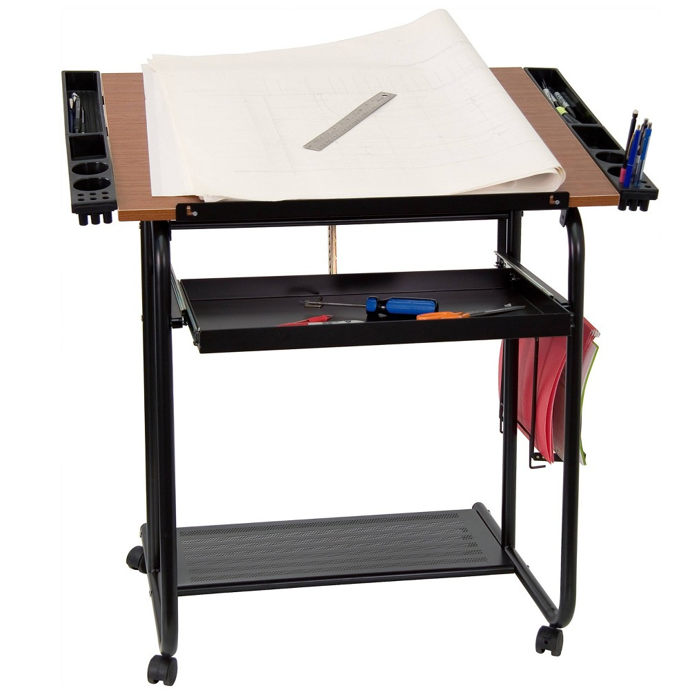 Image of Adjustable Drawing and Drafting Table Black - Flash Furniture