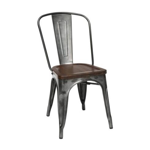 Solid Ash Wood Seats Metal Walnut, Target Tolix Chairs Comfortable
