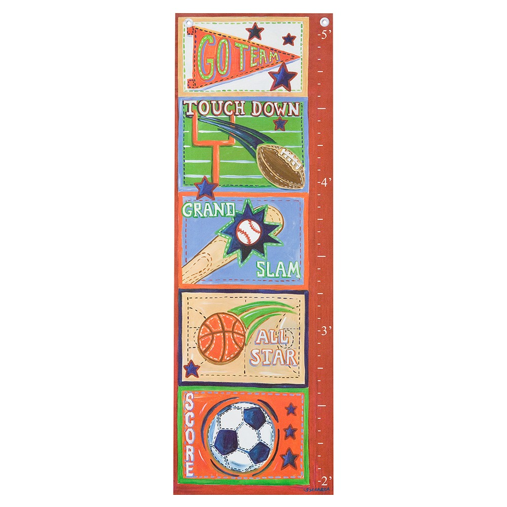 Image of Oopsy Daisy too Sports Growth Chart - 13x39