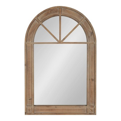 """24"""" x 36"""" Stonebridg Arch Wall Mirror Rustic Brown - Kate & Laurel All Things Decor"""
