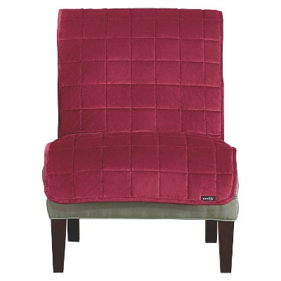 Antimicrobial Deluxe Comfort Quilted Armless Chair Furniture Protector - Sure Fit