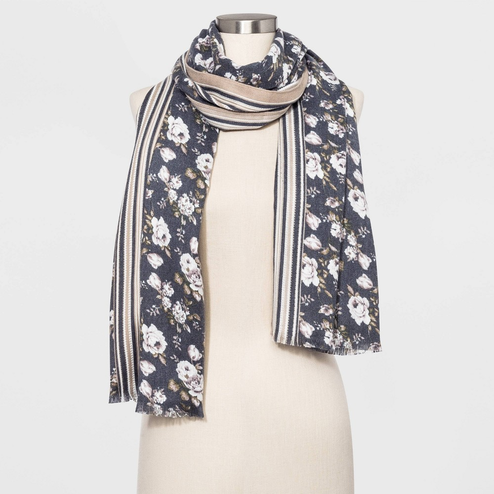 Image of Women's Floral Print Collection XIIX Scarves - One Size, Women's, Gray