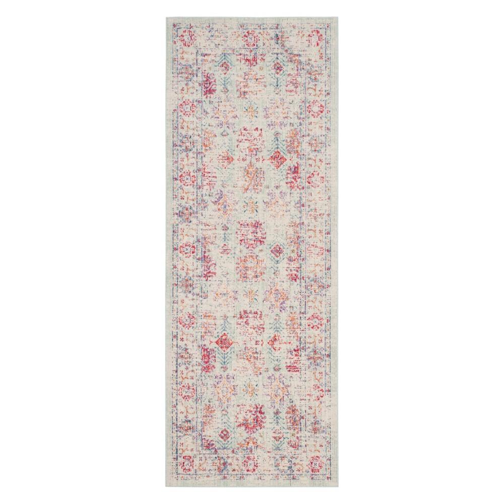 9'X13' Shapes Loomed Area Rug Ivory/Fuchsia (Ivory/Pink) - Safavieh