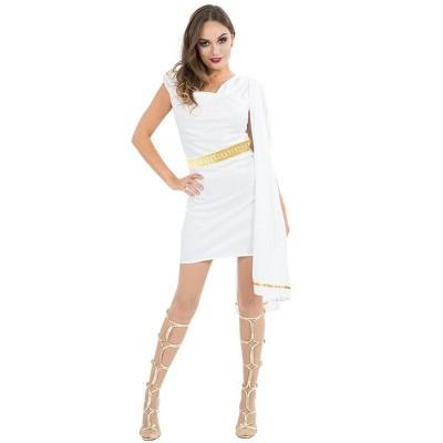 Women's Roman Costume Toga - White
