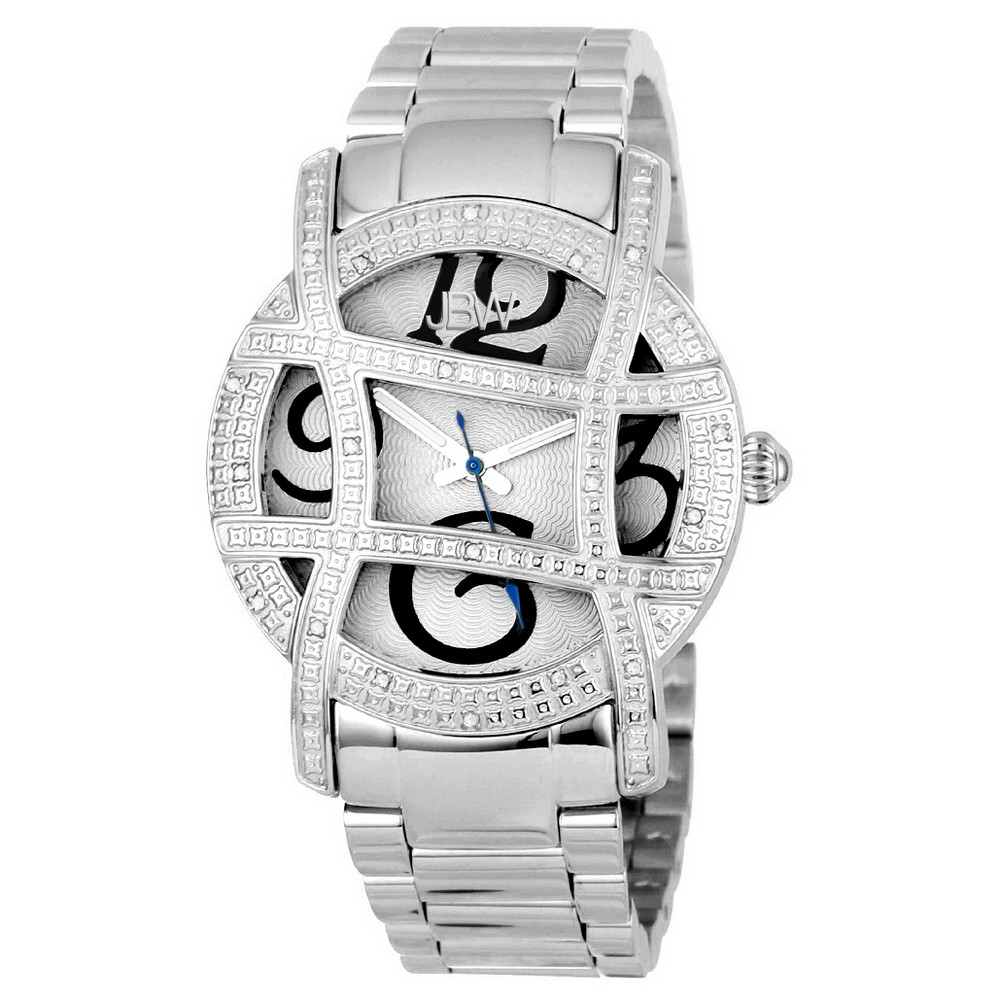 Women's Jbw JB-6214-A Olympia Japanese Movement Stainless Steel Real Diamond Watch - Silver