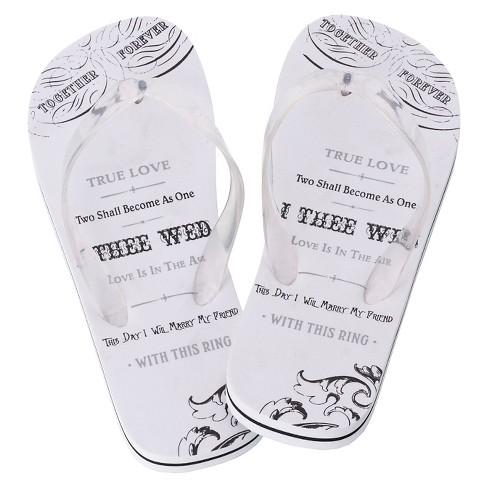 8dd977ac857 Wedding Flip Flops   Target