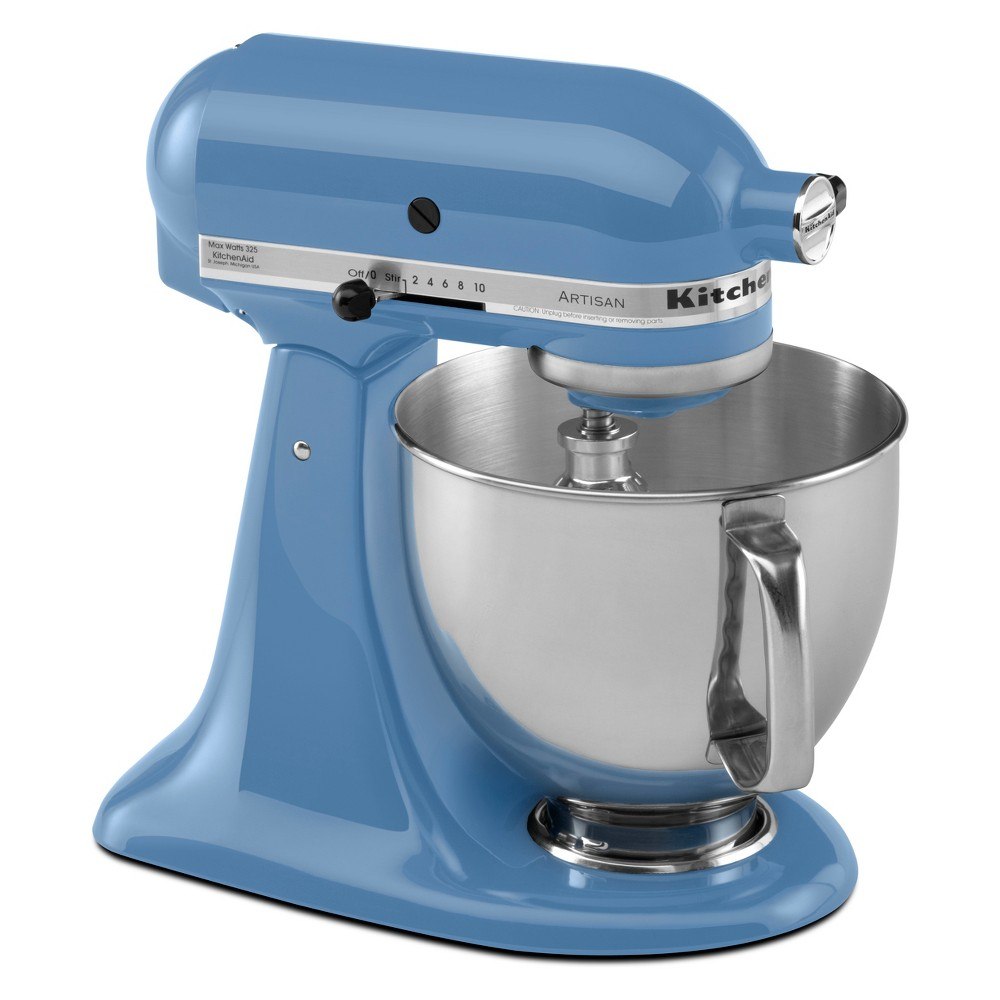 KitchenAid Refurbished 5qt Artisan Stand Mixer Cornflower Blue – RRK150CO 53960975