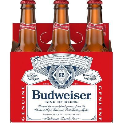 Budweiser Lager Beer - 6pk/12 fl oz Bottles