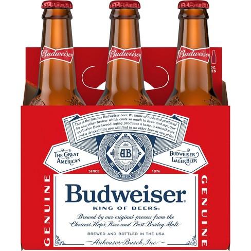 Budweiser Lager Beer - 6pk/12 fl oz Bottles - image 1 of 2