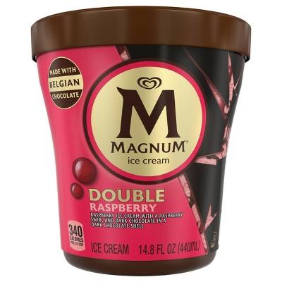 Magnum Tub Dark Chocolate Raspberry Ice Cream - 14.8oz