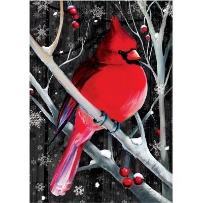 """Home & Garden 18.0"""" Midnight Cardinal Flag Double Sided Custom Decor  -  Flags"""