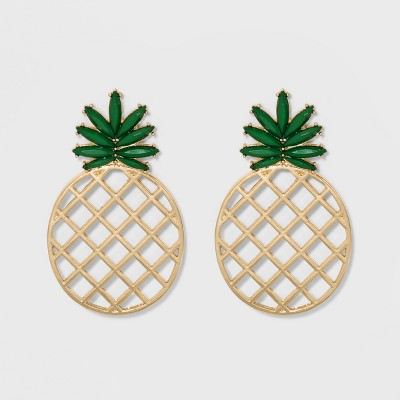 SUGARFIX by BaubleBar Pineapple Drop Earrings – Green