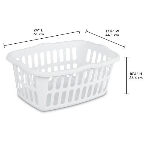 Medium Rectangular Laundry Basket White Target