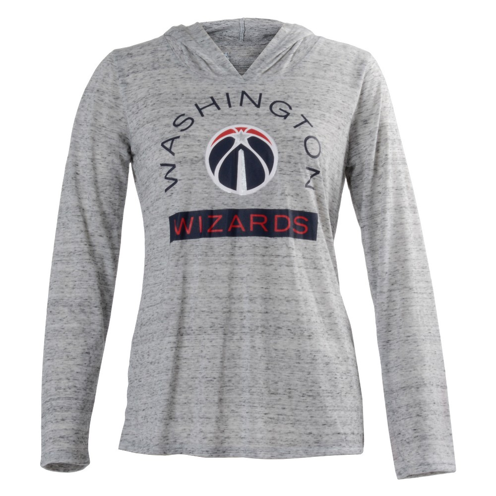 Washington Wizards Women's Tech Arch Gray Lightweight Hoodie L, Multicolored