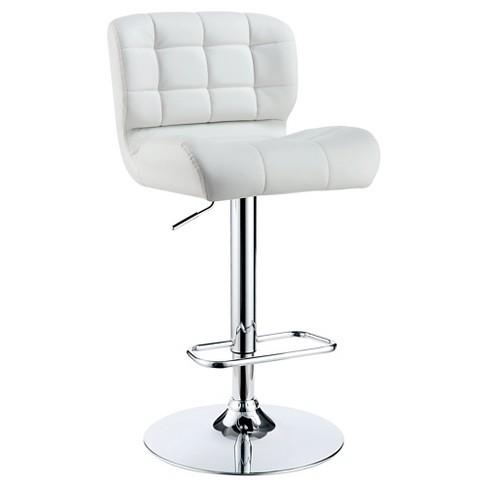 Riley Adjustable Leatherette Barstool - Furniture of America - image 1 of 3