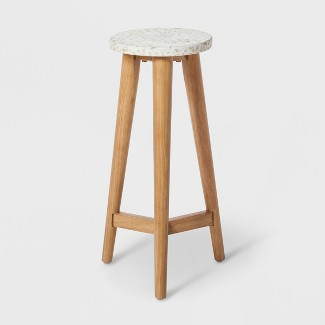 "22"" x 9"" Terrazzo Plant Table White/Brown - Project 62™"