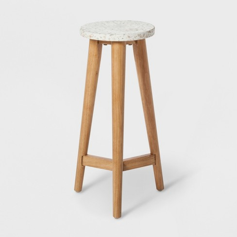 "22"" x 9"" Terrazzo Plant Table White/Brown - Project 62™ - image 1 of 3"