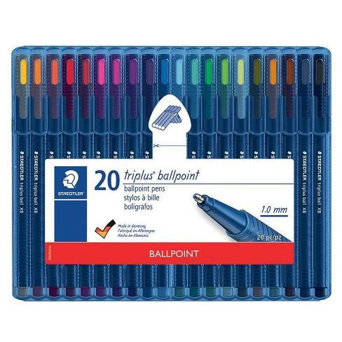 20pk Ballpoint Pens Triplus Multiple Colored Ink - Staedtler - image 1 of 3