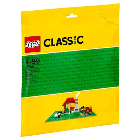 Lego 1 Bright Green 16x16 flat base plate platform 5 x 5 inch Rounded corners