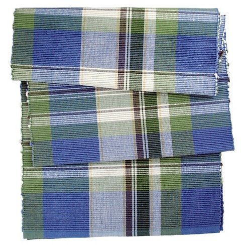 Blue Lake House Plaid Table Runner - Design Imports - image 1 of 1