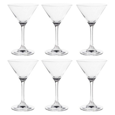 Martini Glasses - 6-Set Clear Classic 5-Ounce Cocktail Glasses, Inverted Cone Shaped Stemware, Bar Accessories, Ideal Gifts for Housewarming