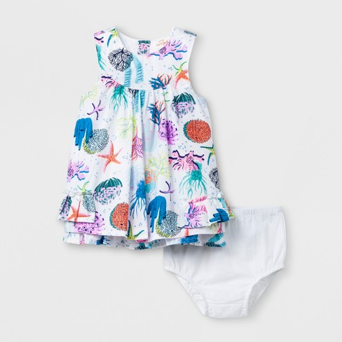 a49d9e4ec11a3 Baby Girls' A-Line Dress - Cat & Jack™ White : Target