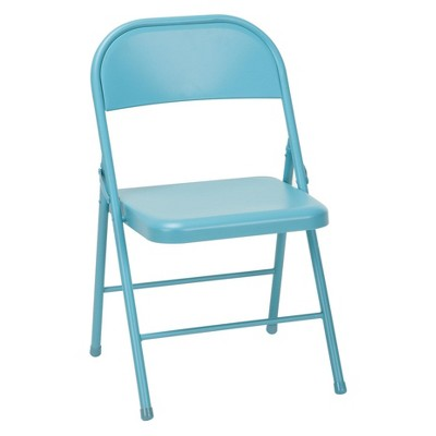 Cosco Set of 2 All Steel Folding Chair Turquoise