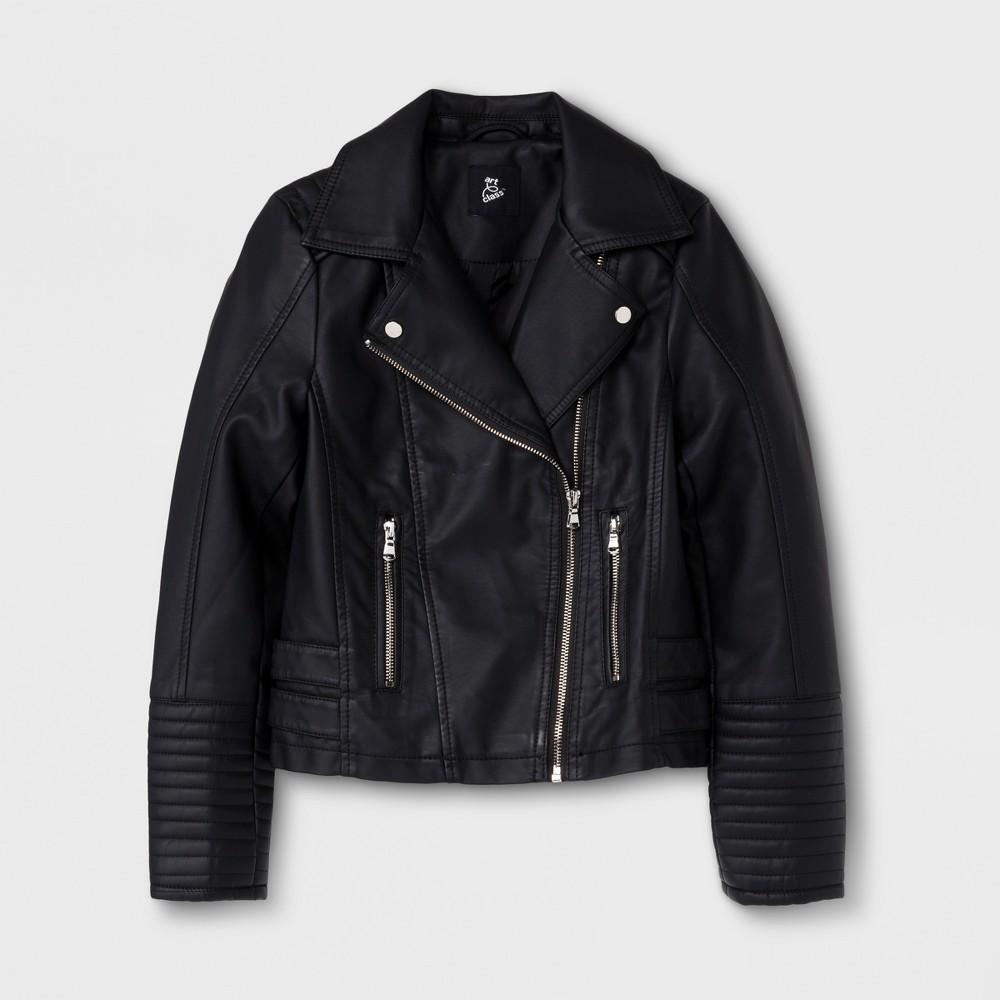 Girls' Moto Outerwear Jackets - art class Black S