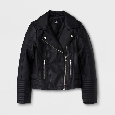 8586de4bd Girls  Moto Outerwear Jackets - Art Class™ Black   Target