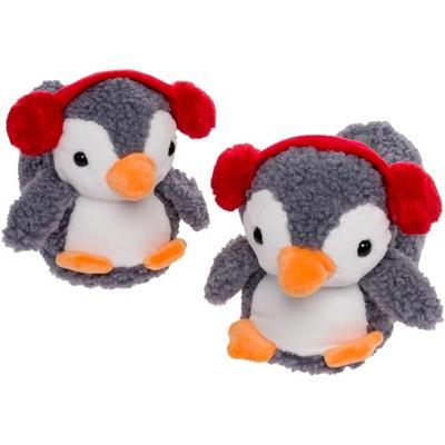 FUNZIEZ! - Women's Penguin Animal Slippers