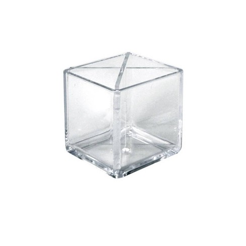 """Azar Displays 4"""" 2pk Cube Pencil Holder with Divider - image 1 of 1"""
