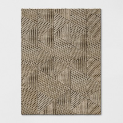 Tufted Geometric Area Rug Gray - Project 62™