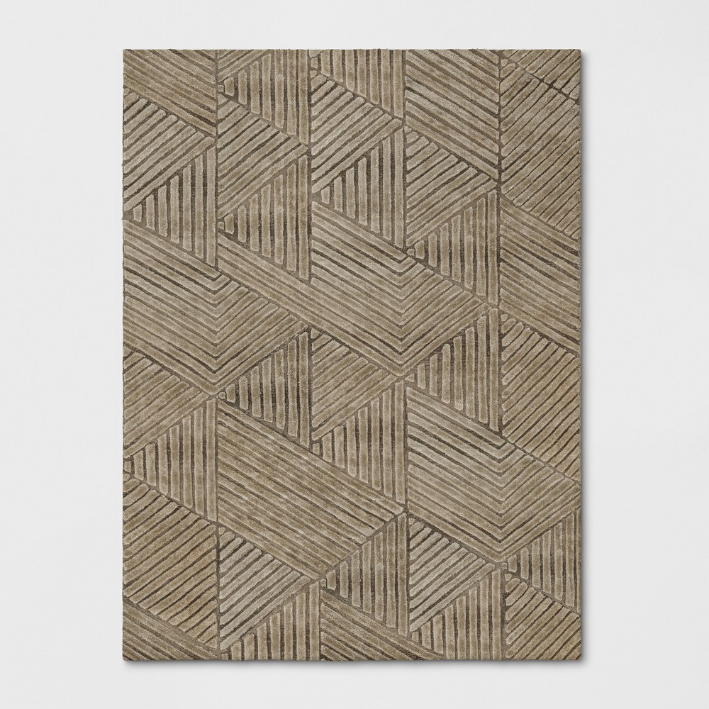 9'X12' Tufted Geometric Oval Area Rug Beige - Project 62 was $629.99 now $314.99 (50.0% off)