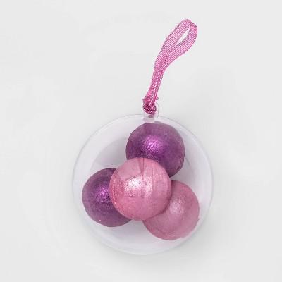 Ornament Mini Shimmer Bath Bomb - 4pc - 2.84oz - Target Beauty™