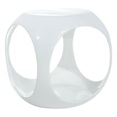 Slick Cube Occasional Table White - OSP Home Furnishings